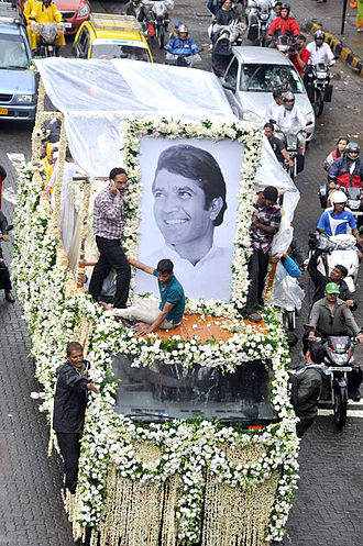 Rajesh Khanna - Rajesh Khanna's funeral procession held in Mumbai on 19 July 2012.