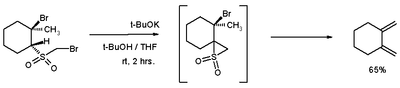 Scheme 5. Ramberg–Bäcklund synthesis of dimethylene-cyclohexane
