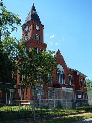 "The Randolph County Courthouse in Cuthbert was placed on the Georgia Trust for Historic Preservation's 2012 list of ""Places in Peril"" due to extensive termite damage and general disrepair."