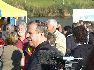 Mike Rann - Rann at National Sorry Day in Elder Park, Adelaide, for the apology to the stolen generations in 2008.