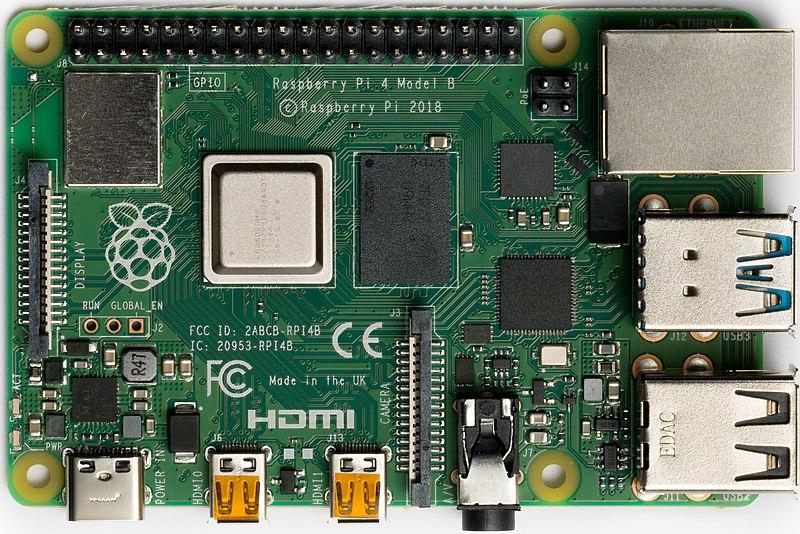 Raspberry Pi 4 Model B - Top