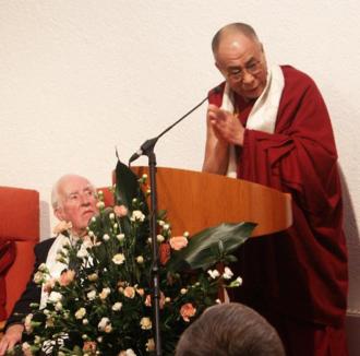 Ray Davey - Ray Davey and the 14th Dalai Lama at the Corrymeela Ballycastle Centre