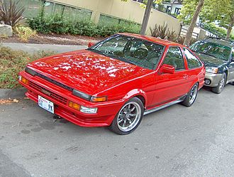 Toyota AE86 - A Corolla GTS, with Sprinter Trueno trim modification