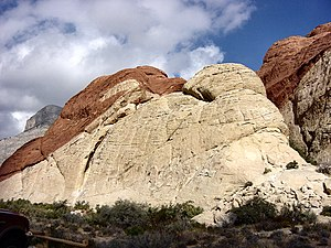 Red Rock Canyon National Conservation Area - An outcrop of Aztec Sandstone