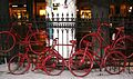 Red bikes Poznan.JPG