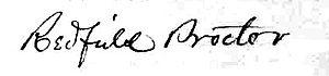Redfield Proctor - Redfield Proctor's signature (1854)