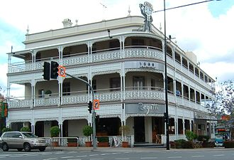 Toowong - The Regatta Hotel, viewed from Coronation Drive