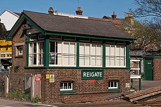 Reigate railway station - Reigate Signal Box