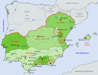 Taifa - The taifas in 1080