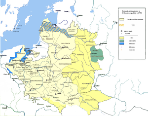 Religions in Poland in 1750