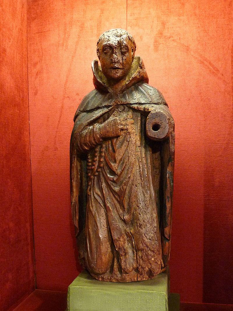 Den hellige Amatus, statue fra 1600-tallet i Musée Charles-de-Bruyères i Remiremont