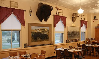 Fort Robinson - The restaurant in Comanche Hall, the historic Bachelor Officers' Quarters at Fort Robinson