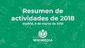 Resumen de actividades de 2018 de Wikimedia España.pdf
