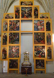 Retaule de la vida de Crist i de la mare de Déu, antic retaule major de la catedral de Sogorb, Vicent Macip i Joan de Joanes.JPG
