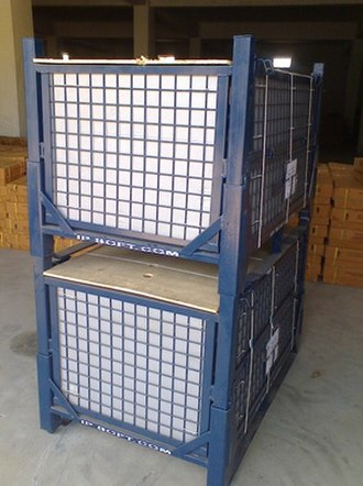 Reusable packaging - A  steel cage used as reusable packaging