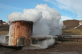 Biophilia (album) - A Geothermal boiler in Reykjahlíð, Iceland. While composing Biophilia, Björk engaged herself in a series of political activities to preserve Iceland's natural resources.