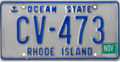 Rhode Island license plate, 1987–1993 series with November 1994 sticker.png