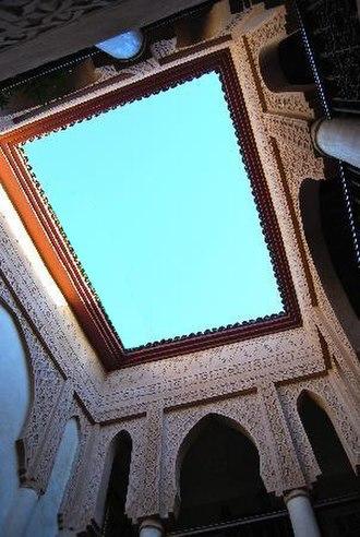 Moroccan style - Image: Riad Laksiba open air courtyard Marrakech