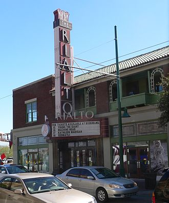 Rialto Theatre (Tucson, Arizona) - The Rialto's marquee, facing Congress Street