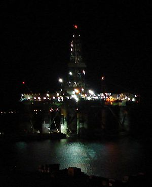 Marystown - Oil platform docked in Mortier Bay.