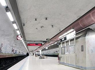 Rissne metro station - Image: Rissnetbana