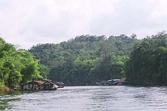 Prehistoric Thailand - View of the Khwae Noi River.