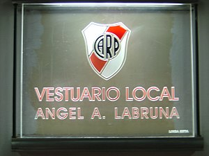 Estadio Monumental Antonio Vespucio Liberti - Entrance to the locker room.