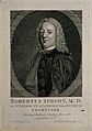 Robert Simson. Line engraving by A. Ballie, 1776, after de N Wellcome V0005458.jpg