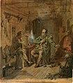 Robert Wilhelm Ekman - Vänrikki Stool ja ylioppilas, luonnos - A I 457-321 - Finnish National Gallery.jpg