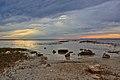Rocky beach sunset St. Marks NWR 2013-02-14.jpg