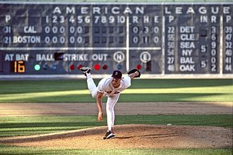 Roger Clemens - Clemens pitches at Fenway Park, 1996