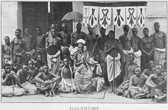 Allada - Image: Roi d'Allada 1900