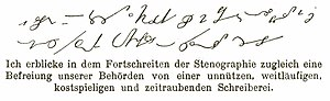 Heinrich Roller - Example of Roller's shorthand.