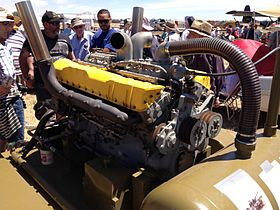 Rolls-Royce Meteor tank engine on display at Warbirds Downunder 2013 (2).jpg