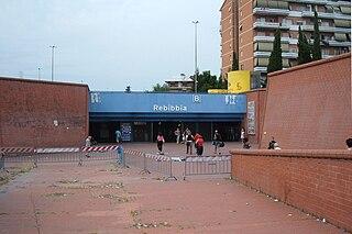 Rebibbia (Rome Metro) northern terminus of Rome Metro B line