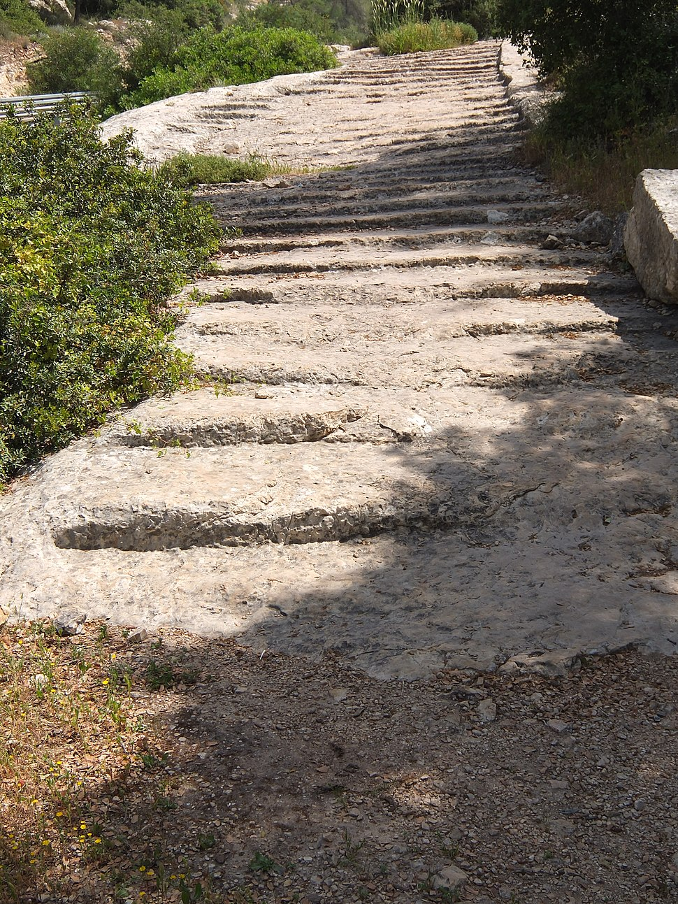 Roman Road with carved steps