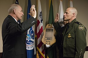 Ron Vitiello - Vitiello being sworn in as CBP Chief by John F. Kelly, Secretary of Homeland Security on March 14, 2017.