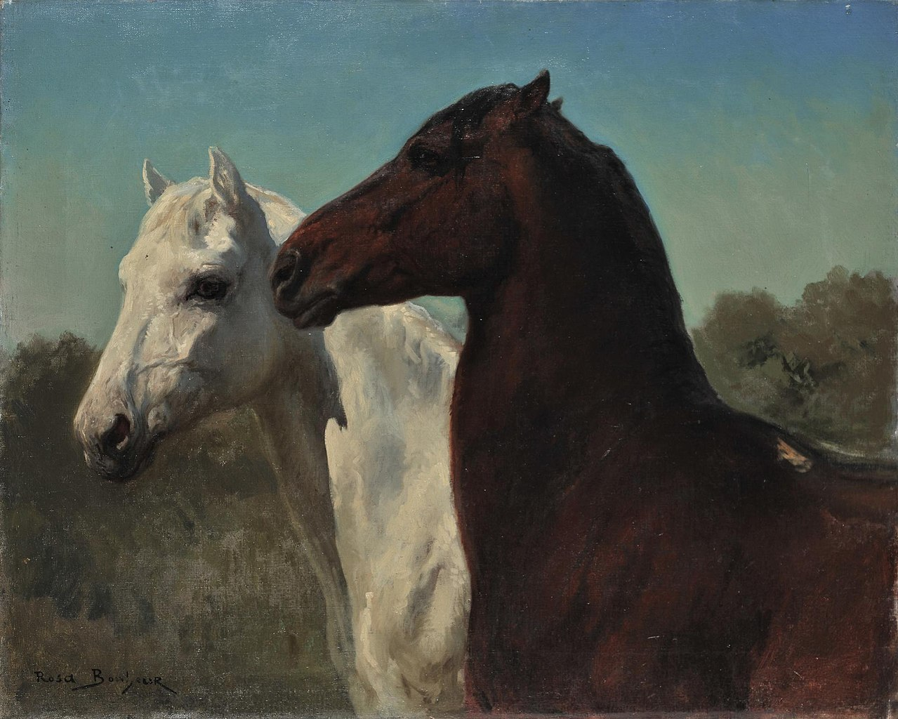 File Rosa Bonheur Two Horses National Gallery Of Greece Jpg Wikimedia Commons