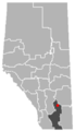 Rosemary, Alberta Location.png