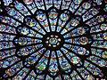 Rosone centrale sinistro della Cattedrale di Notre-Dame de Paris, particolare.JPG