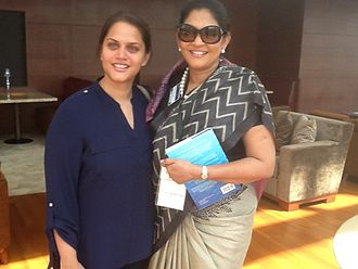 Rosy Senanayake - Rosy Senanayake (on the right) with her daughter