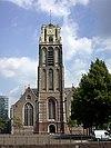 Toren der Grote of St. Laurenskerk. Ingebouwde westtoren. Bouw toren begonnen