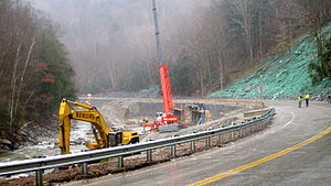 Mohawk Trail - Image: Route 2 repair