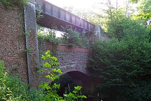 Cranleigh line - Rudgwick Bridge (above a Bridge) in 2005