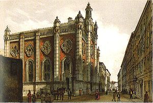History of the Jews in Vienna - The Leopoldstädter Tempel, painted by Rudolf von Alt