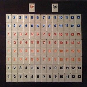 Rummikub - The 106 Rummikub tiles