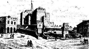 Rushen Abbey on the Isle of Man a sketch from ...