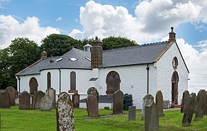 Ruthwell Cross - Ruthwell church showing annex that houses the cross