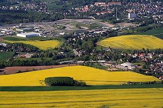 Sachsenring - Image: Sächsische Landschaft Landkreis Zwickau Sachsenring und Umgebung