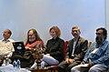S. Ramakrishnan, Richard Stallman, Nina Paley, Rahul De and V. SasiKumar at Swatantra 2014, Thiruvananthapuram.jpg
